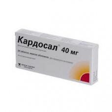 Кардосал 40 табл. п/о 40 мг блистер №28