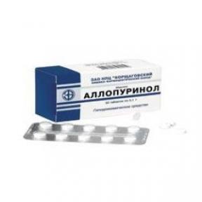 Аллопуринол табл. 100 мг блистер №50