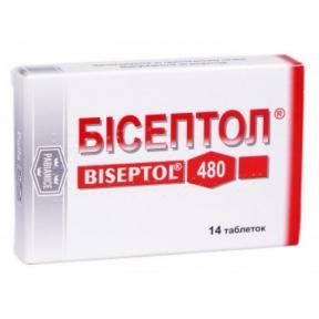 Бисептол табл. 400 мг + 80 мг блистер №14