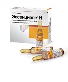 Эссенциале Н р-р д/ин. 250 мг амп. 5 мл №5