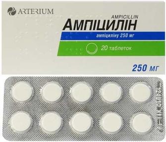 Ампициллин табл. 250 мг №20