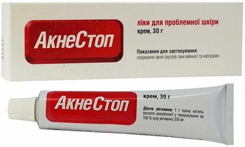 Акнестоп крем 20% туба 30 г №1